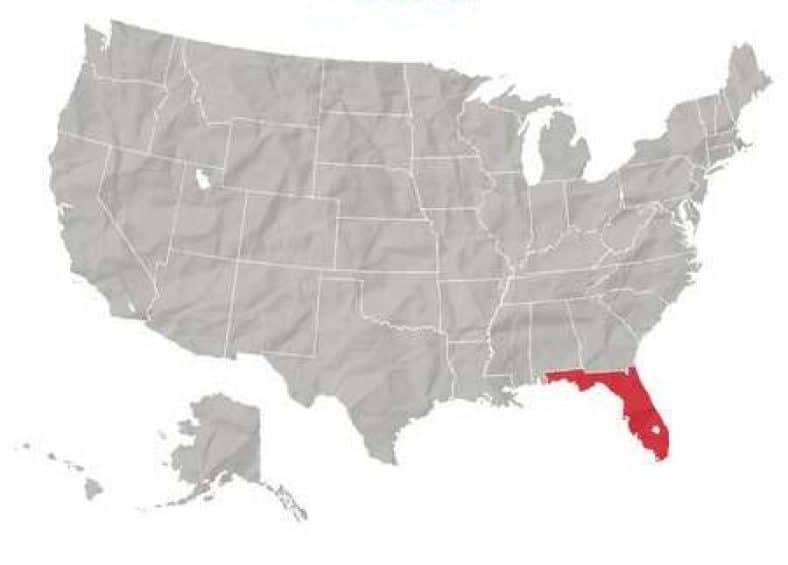 Safest cities in Florida - Florida map