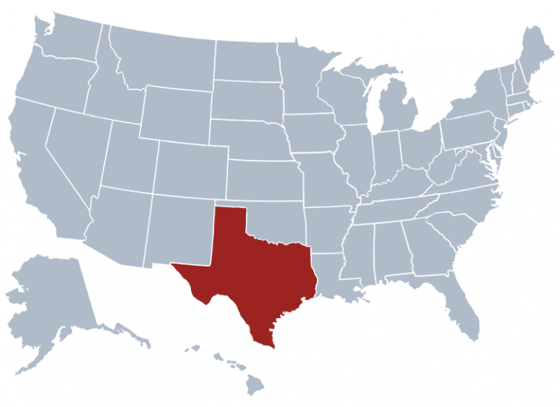 Texas map - Safest cities in Texas