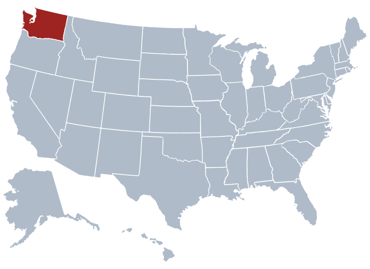 Washington map - Safest cities in Washington