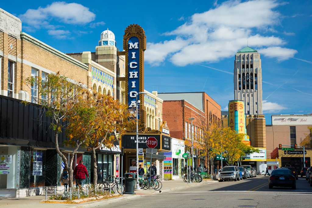 Ann Arbor, Michigan - safest cities in michigan