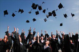 university graduation picture - safest colleges in America