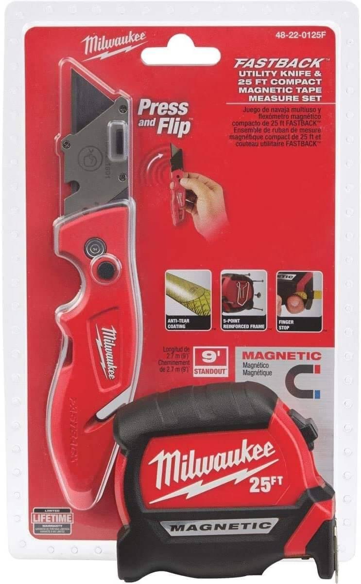 Milwaukee Tape Measure and Tool Set